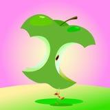 De Dag van de appel, het concept van de Gezondheidszorg. stock illustratie