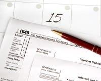 De dag van de belasting Stock Afbeeldingen