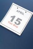 De Dag van de Belasting van de kalender Stock Fotografie