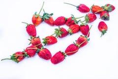 De Dag van de de Liefdevalentijnskaart van het Stawberryhart Stock Afbeeldingen