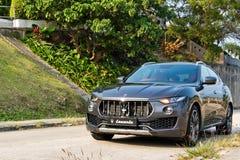 De Dag van de de Testaandrijving van Maserati Levante 2017 Stock Afbeeldingen