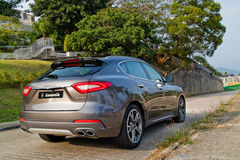 De Dag van de de Testaandrijving van Maserati Levante 2017 Stock Afbeelding