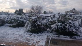 De dag van de de wintersneeuw in Argolida Royalty-vrije Stock Afbeelding