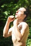 De dag van de de zomerdouche Royalty-vrije Stock Foto