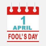 De dag van de dwazen van april Stock Illustratie