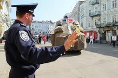 De Dag van de Dwazen van april in de Oekraïne. stock foto's