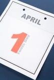 De Dag van de Dwazen van de kalender Stock Foto