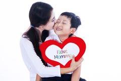 De dag van de gelukkige moeder! Stock Afbeelding