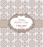 De dag van de gelukkige moeder Stock Afbeeldingen