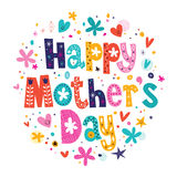 De dag van de gelukkige moeder Stock Foto's
