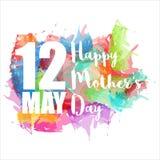 De dag van de gelukkige moeder Royalty-vrije Stock Foto