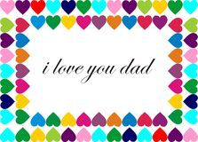 De dag van de gelukkige vader Stock Afbeelding