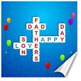 De dag van de gelukkige vader Stock Fotografie