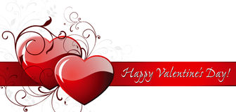 De dag van de gelukkige Valentijnskaart! Stock Afbeelding