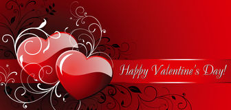 De dag van de gelukkige Valentijnskaart! Stock Afbeeldingen