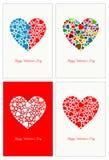 De Dag van de gelukkige Valentijnskaart Stock Foto