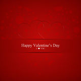 De dag van de gelukkige Valentijnskaart Stock Afbeeldingen
