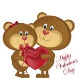 De dag van de gelukkige valentijnskaart Stock Illustratie