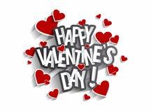 De dag van de gelukkige Valentijnskaart Stock Fotografie