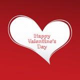 De dag van de gelukkige Valentijnskaart stock foto's