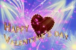 De dag van de gelukkige Valentijnskaart stock afbeelding