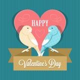 De dag van de gelukkige Valentijnskaart royalty-vrije stock afbeelding