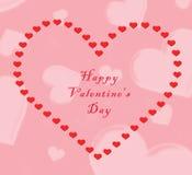 De dag van de gelukkige Valentijnskaart Royalty-vrije Stock Afbeeldingen