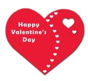 De dag van de gelukkige Valentijnskaart Royalty-vrije Stock Foto