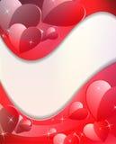 De Dag van de gelukkige Valentijnskaart. De Kaart van de groet. Stock Foto's