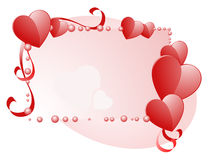 De Dag van de gelukkige Valentijnskaart. Frame. Stock Afbeeldingen
