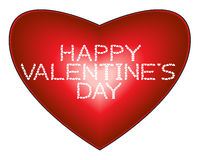 De Dag van de gelukkige Valentijnskaart op hartachtergrond Royalty-vrije Stock Foto's