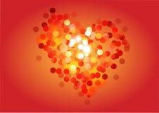 De dag van de hart bokeh vector, gelukkige valentijnskaart, bokeh Royalty-vrije Stock Foto's