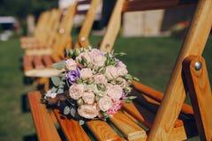 De dag van de huwelijkszon Stock Foto's