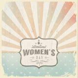 De dag van de internationale vrouw met wijnoogst backgroun