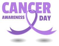 De Dag van de kankervoorlichting Stock Afbeeldingen