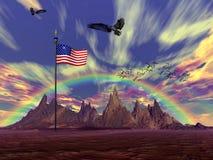 De dag van de onafhankelijkheid. vector illustratie