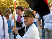 De dag van de onafhankelijkheid in de Oekraïne, Kirovograd. Royalty-vrije Stock Foto