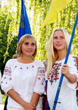 De dag van de onafhankelijkheid in de Oekraïne, Kirovograd. Stock Fotografie