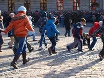 De Dag van de onafhankelijkheid, Lublin, Polen stock fotografie