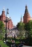 De Dag van de overwinning in Moskou, het Kremlin stock foto's
