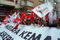 De Dag van de republiek die in Turkije wordt gevierd Royalty-vrije Stock Fotografie