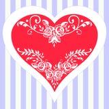 De dag van de romantische vectorvalentijnskaart Royalty-vrije Stock Foto