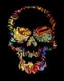 De dag van de schedelkunst van de doden De tekening van de hand Stock Foto's