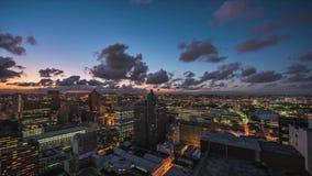 De dag van de Stadstimelapse van Durban aan nacht stock video