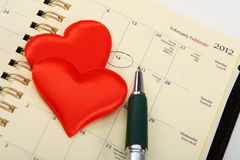 De Dag van de valentijnskaart. Stock Afbeelding