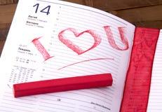 De dag van de valentijnskaart Royalty-vrije Stock Afbeelding