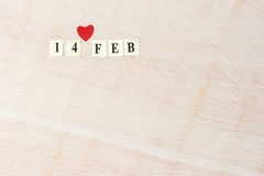 De dag van de valentijnskaart Stock Fotografie