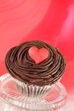 De dag van de valentijnskaart cupcake Stock Afbeelding