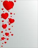 De Dag van de valentijnskaart met harten Royalty-vrije Stock Foto's