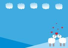 De dag van de valentijnskaart `s Stock Foto